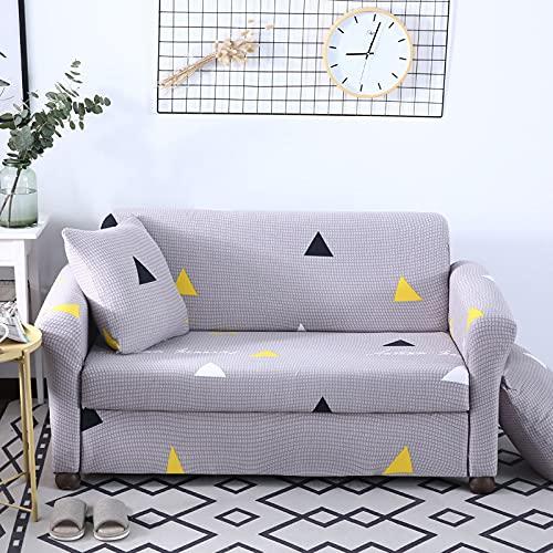 ASCV Överdrag all-inclusive glidbeständig sektion elastisk full sofföverdrag soffa handduk fåtölj skydd hörn soffa A9 2-sits