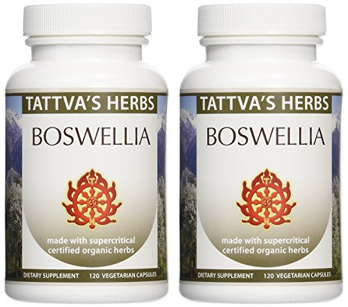 Boswellia - Maintains Healthy Joint Function - Organic Full Spectrum Extract 500 Mg. 240 Vcaps (2 Pack - 120 Ct./Ea)