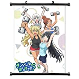 ROUNDMEUP How Heavy are The Dumbells You Lift (Dumbbell Nan Kilo Moteru) Anime Fabric Wall Scroll Poster (16x23) Inches [A] How Heavy Dumbells-1