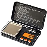 TBBSC Digital Pocket Scale 200gx0.01g,Electronic Weighing Scales for Jewelry Coins,Reload and Kitchen with 50g Calibration Weights and Tweezers(Battery Included)