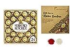 Vending India X Ferrero Rocher Rakshabandhan Gift Hamper with 1pc Rakhi & Roli , Chawal , Chandan & Mishri (Ferrero Rocher T24 (24 pcs))