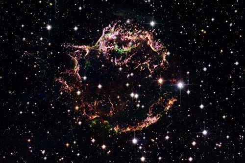 Feeling at Home Kunstdruck auf LEINWAND im SCHATTENFUGENRAHMEN NASA Supernova-Rest Cassiopeia A - März 2004 Leinwandbilder im moderner Holzrahmen Astronomie & Raumfahrt Horizon cm_78_X_118