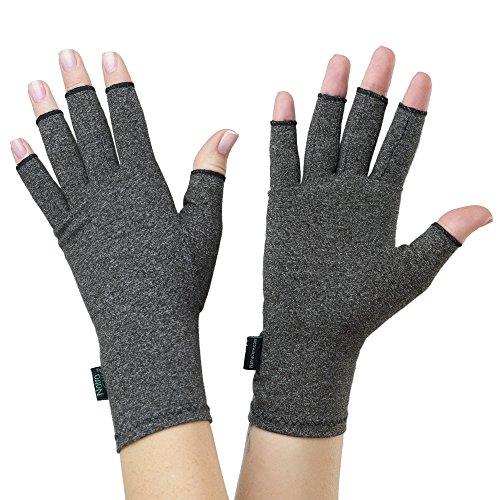 NatraCure Kompression Arthritis Handschuhe in Größe L – fingerlose Kompressionshandschuhe zur Linderung von Gelenkschmerzen, Entzündungen, Karpaltunnelsyndrom, Rheuma & Arthrose