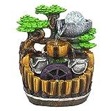 ZYLBDNB Fuentes Interiores y cascadas Fuente de Escritorio Creativa Fuente de rocalla de Resina Decorada con Tres Capas de cascadas y Cuentas giratorias Fuentes de Escritorio y cascadas pequeñas