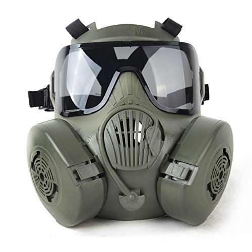 Outgeek M50 Airsoft Mask Full Face Skull CS Mask with Fan