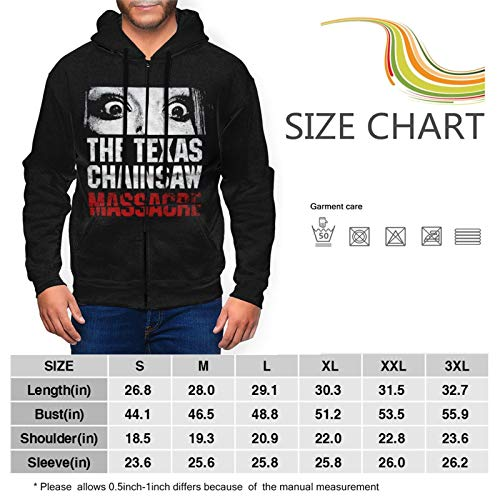 Cfgerends Texas Chainsaw Massacre Men's Fashion Hoodie Winter Autumn Hooded Zipper Jacket Outdoor Large Black