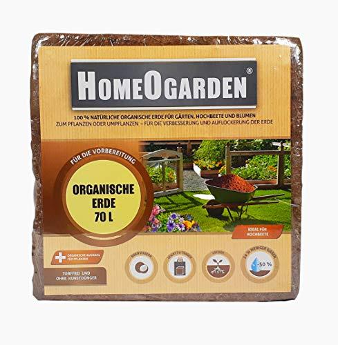 HomeOgarden - Blumenerde aus Kokosfaser - Kokosblumenerde Kokoserde | Humusziegel (70L)