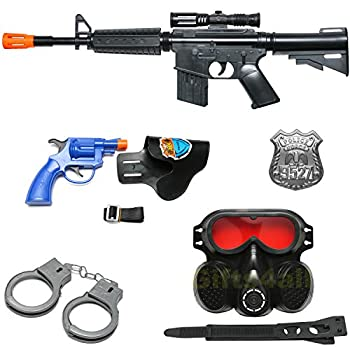 M-16 Black Military Toy Machine Gun Army Rifle Sounds Kids Pretend Play 22 Inches