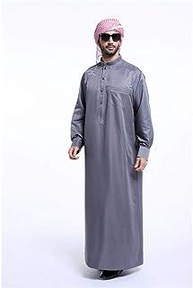 DAIDAICP Fashion Muslim Clothing Men Robes Long Sleeve Embroidery Pattern Arab Dubai Indian Middle East Islamic Muslim Cloth Of Men