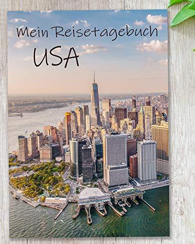 Reisetagebuch USA zum Selberschreiben |mit viel Abwechslung, spannenden Aufgaben, Urlaubsvorbereitung, wunderschönen Fotos uvm. | gestalte deinen individuellen Reiseführer | Cover New York