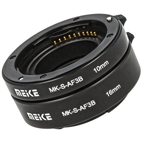 Impulsfoto Automatik Zwischenringe 2-teilig 10mm & 16mm Fuer Makrofotographie passend zu Sony NEX Systemkameras