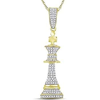 14K Yellow Gold Polished Wishbone Pendant from Roy Rose Jewelry