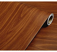 Wood Grain Paper Stickers Wallpaper 61 x 500CM Contact Paper Self Adhesive Sticky PVC Roll Film for Furniture Countertop Cabinet Wardrobe Wall Shelf Decorative Cupboard Peel and Stick DIY Type A