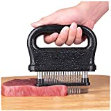 Meat Tenderizer Professional Kitchen Tool with 48 Sharp Stainless Steel Blades Manual Meat