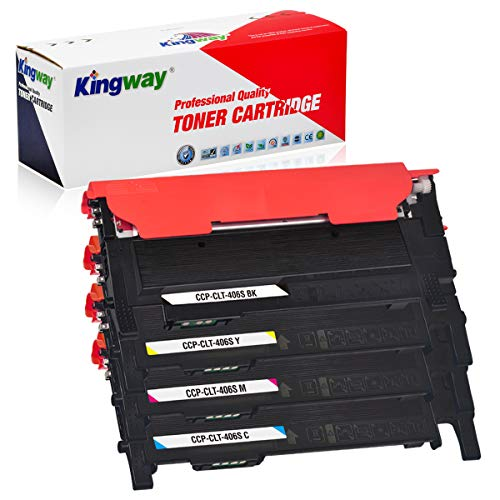 Kingway - Toner compatibile per Samsung 406S CLT-406S CLT-P406C CLT-K406S P406S per Samsung Xpress C460W C460FW C410W C460 CLX-3305 CLX-3300 CLX-3305FN CLX-3305W CLX-3305FW P-365. CLP-365W