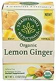 TRADITIONAL MEDICINALS Organic Lemon Ginger Tea, 16 CT