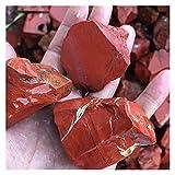 YSDSPTG Piedras Naturales Jasper Rojo Crudo Piedra áspera Piedras Preciosas de Cuarzo Cristales minerales Bonsais Naturales Naturales Decoración de la casa Moderna (Color : Red, Size : 30-50mm)