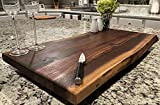 Black Walnut Large, Gorgeous, Full-of-Character, Forest-to-Table Solid Double Live Edge Wood Charcuterie / Appetizer / Dessert / Grazing / Serving Board. 100% USA Handcrafted. 27 x 15 x 1.25'
