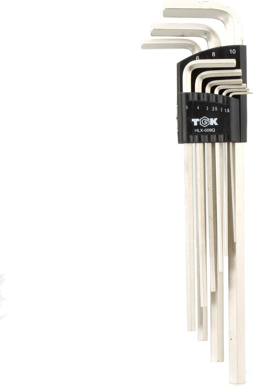 Generic HLX-009Q Sechskantschlüssel-Set, langlebig, extra Langer Langer Langer Arm, flaches Ende, 1,5-10 mm, 9 Stück B078J1YNKP | Niedriger Preis und gute Qualität  90765f