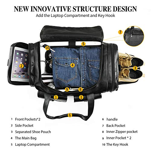 Women Gym Bag with Laptop and Shoe Compartment