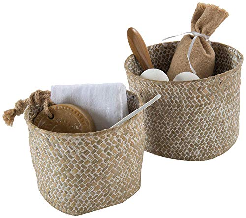 Compactor Beige Mika Boxes & Baskets (Storage Basket, Cane, Monótono, Alrededor, Metal), Applicable