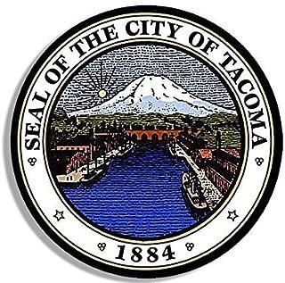 GHaynes Distributing Round City of TACOMA Seal Sticker Decal (washington wash wa logo) Size: 4 x 4 inch