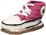 Baobab Schuhe, Zapatillas de ganchillo para bebé bio con suela antideslizante de piel salvaje, 15-22 meses (rosa)
