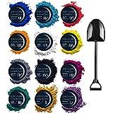 Mica-Puder für Epoxidharz – Farbstoff, Farbpigment-Set – 12 Farben – Kosmetikqualität...