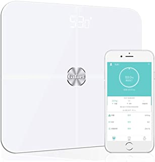 体重計 体組成計 体脂肪計 高精度ITO&BIA技術 体脂肪/体水分/筋肉量/BMIなど多項健康指標 赤ちゃんの体重計算可能 iPhone/Androidアプリで健康管理 健康管理/肥満予防/体重管理【ホワイト】