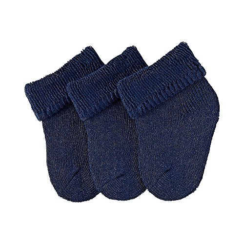 Sterntaler Erstlings  Socken 3-er Pack,  Alter: ab 0 Monate,  Größe: Neugeborene (HerstellerGröße 0),  Dunkelblau (Marine)