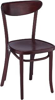 Oval Wood Side Chair Walnut 2 PK