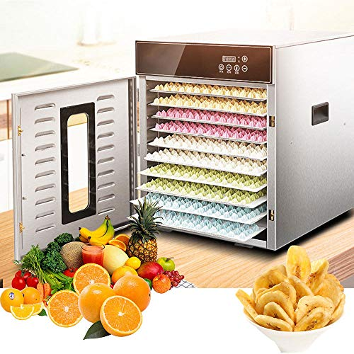 For Sale! 10 Layers Food Dehydrator, 30~110°C Temperature Setting, Max 24h, Fruit Dryer Machine, De...