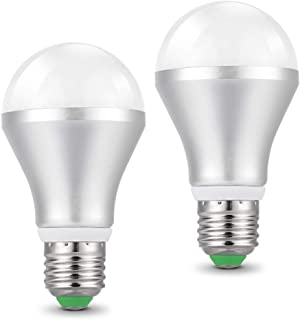 2 Piezas Bombilla LED Sensor 5W E27 bombillas con sensor crepuscular de luz 450lm 6500K blanco frío AC 85-265V Auto On/Off para porche pasillo Garage