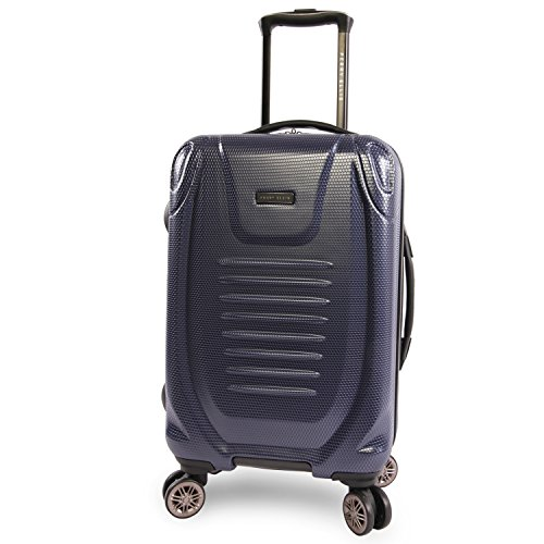 Perry Ellis Bauer 21' Hardside Carry-on Spinner Luggage, Navy, One Size