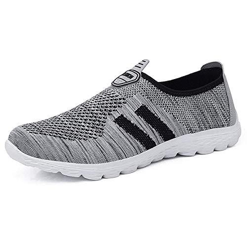 JIANKE Herren Damen Leichte Freizeitschuhe Atmungsaktiv Turnschuhe Sportschuhe Bequem Outdoor Fitnessschuhe Sneaker 42