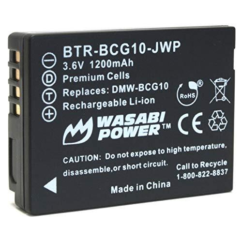 Wasabi Power Battery for Panasonic DMW-BCG10, DMW-BCG10E, DMW-BCG10PP