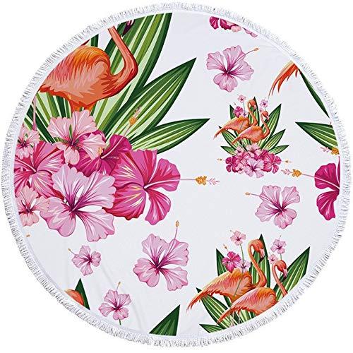 Toalla de Playa Toalla de Playa 150 cm Natación Redondo Toalla de baño Multiusos de Pared Tapicería Sofá Knee Picnic Manta (Color : Beach Towel 5)