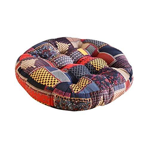 TYHZ Coussin de Chaise Tapis de Tatami de futon en Lin épais, Coussin Rond de siège de siège de siège de siège de méditation de Yoga Coussins de Sol de Plancher Coussins de Sol Galette de Chaise