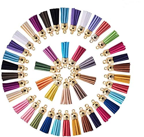 Jrancc Borla Borla Colgantes con 100 Piezas 20 Colores Colgantes para Manualidades Handbag Jewellery Making DIY Hanging Decoration