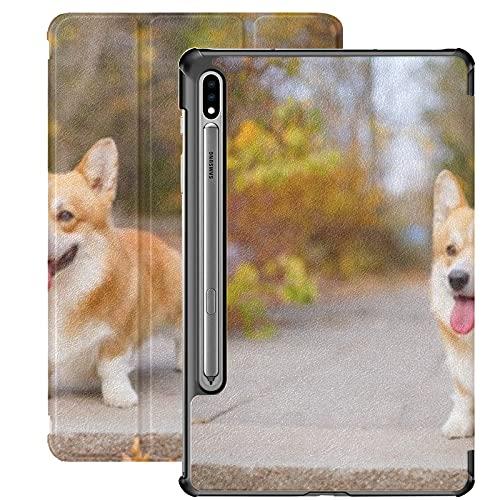 Funda para Galaxy Tab S7 Funda Delgada y Ligera con Soporte para Tableta Samsung Galaxy Tab S7 de 11 Pulgadas Sm-t870 Sm-t875 Sm-t878 2020 Release,Welsh Corgi Dog Autumn Park