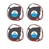 WINSINN 50mm Blower Fan 24V 5015 Hydraulic Bearing 50x15mm Turbine Turbo - High Speed (Pack of 4Pcs)