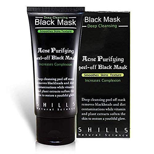 shills Blackhead Remover Cleaner purifying Deep Cleansing Acne Peel Off Face Mask, Black Mud, 50 ml