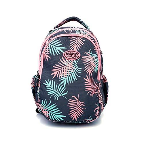 Ocean's Wave - Mochilas escolares. Mochila infantil grande con tela impermeable y bolsillo para portátil. 33 Litros