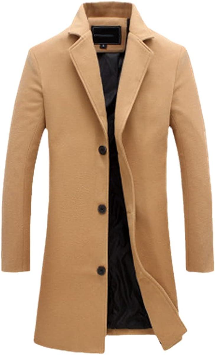 Men's Fashion Jacket Slim Jacket Business Long Winter Windproof Jacket