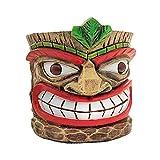 Tiki Head Planter Pot, Whimsical Resin Succulent Planter for Home Garden Decor Indoor Outdoor Plant Pot