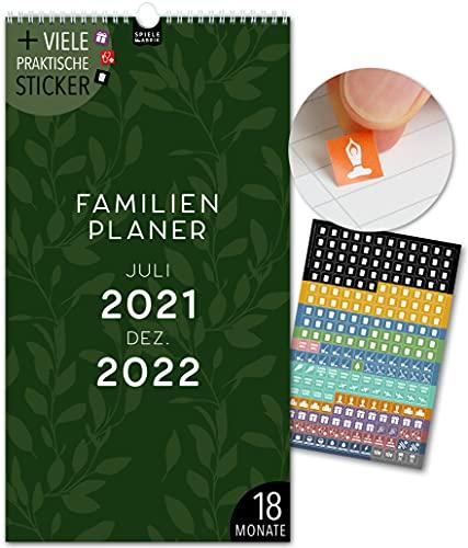 Terminarz rodzinny na 18 miesięcy: Jul 21-grudzień 22   FLORAL ABSTRAKT   5 kolumn   kalendarz ścienny: 23 x 43 cm   kalendarz rodzinny + 228 naklejek, wakacje 21/22, kalendarz miesięczny, planer roczny, design, kwiaty, kwiaty