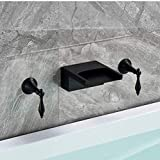 Robinet Bassin Robinet Machine À LaverNoir bronze baignoire robinet robinet robinet bassin robinet large bouche cascade baignoire salle de bain robinet robinet d'eau chaude et froide robinet
