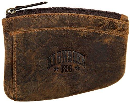 Klondike 1896 'Logan' Estuche para Llaves de Cuero, Llavero de Cuero Mujeres y Hombres - Marrón
