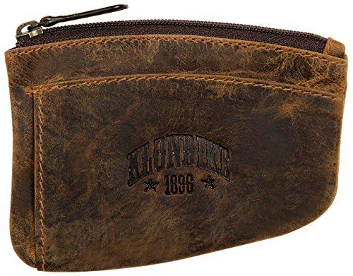 Klondike 1896 portachiavi 'Logan' in vera pelle, portachiavi in pelle di alta qualità da uomo e da donna, marrone