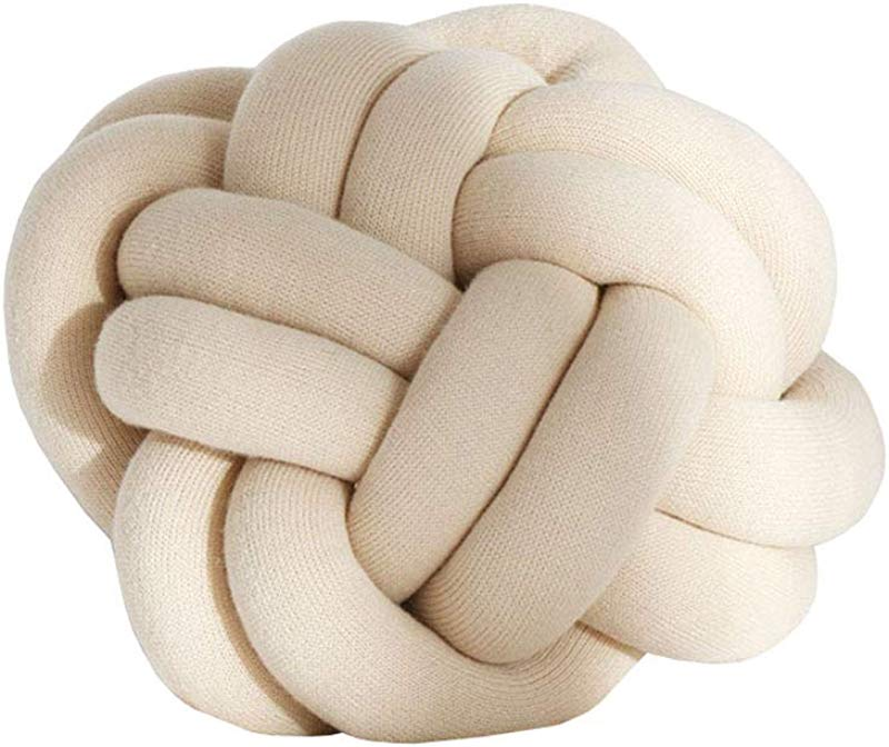Cozzy Creative Handmade Oval Ball Knot Throw Pillow For Bed Couch Chair Decorative Floor Cushion Nursery Kids Office Bedroom Home D Cor 11 15 Beige Apricot